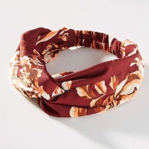 NWT Anthropologie Red Floral Hair Band